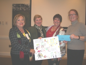 L-R, Patti Wrobel, Jean Muccini, Trish Newman, Laurel Lynch, HOPE director