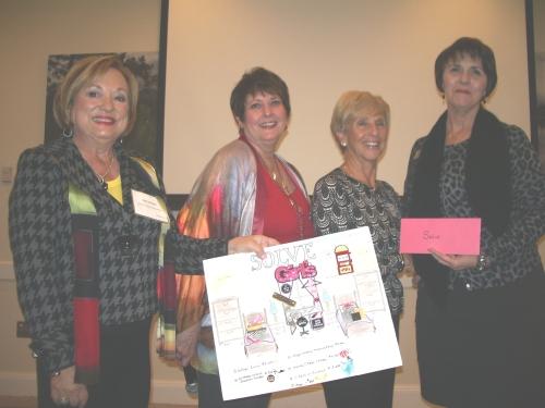 L-R, Patti Wrobel, LWRWC President, Trish Newman, Wilma Nourie, Peggy Kerwin, SOLVE Director