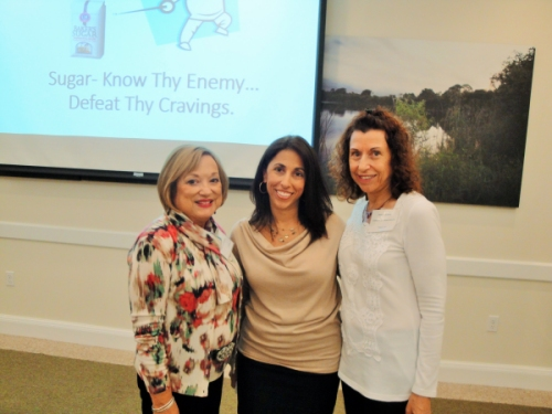 Pictured L to R-LWRWC President Patti Wrobel, Guest speaker, Holistic Health Coach Pam Valez, and her mother, Program Chair, Phyllis Fox