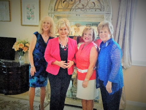"L- R - Monika Templeman, LWRWC Publicity Co-Chair, ABC Reporter, Linda Carson, LWRWC President and Patti Wrobel and LWRWC ""Amazing Woman"" MaryLee Danahy discussed the Women's Club prior to the Linda's Amazing Suncoast Woman Interview with MaryLee for ABC. Linda Carson will be the keynote speaker at the LWRWC General Meeting on Nov. 12, 2015, at the Lakewood Ranch Town Hall"