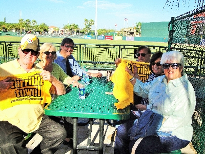 LWRWC Webmaster, Frankie Bailey's table cheer for the Pittsburgh Pirates