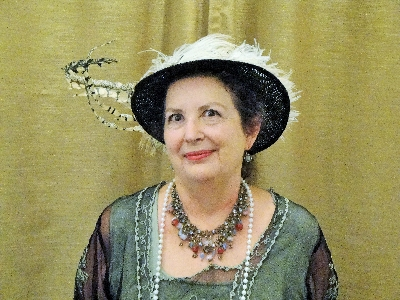 Kate Holmes from the Sarasota Historical Society in her enactment of Bertha Honoré Palmer for the LWRWC on April 9, 2015