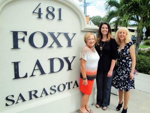 L-R, Patti Wrobel, LWRWC president, Jodi Frauhiger, Foxy Lady consultant, Monika Templeman, fashion show chair