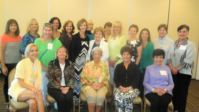 LWRWC New Members –Back Row L – R: Deb Diven, Becky Mills, Patti Valenti, Kathy Deakins, Carol Klein, Elaine Vaughn, Patricia Truitt, Mary Lou Bollin, Cheryl Breining, Lynnea Chickadel, Pam Szabo, Sharon Benkert (2016 Fashion Show Chair), Lydia Grady and Jill Brewer. Front Row - Seated L-R: Diane Vendette, Molly Barrett, Linda Hershman, Marcia Goldsholl, and Joy Pond