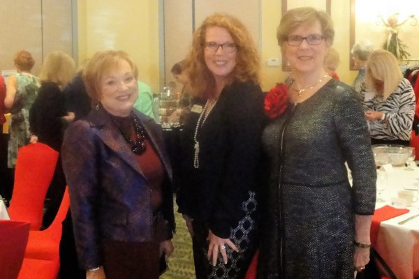 L-R, LWR president Patti Wrobel, Hope Executive Director Laurel Lynch , and Shirley Taradash, WC Vice President and 2016 president elect.