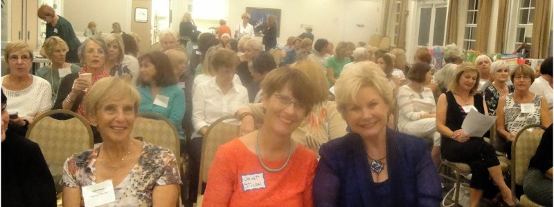 L-R,Wilma Nourie, Janet Stickle, and Linda Carson sit in front row at LWRWC Nov meeting