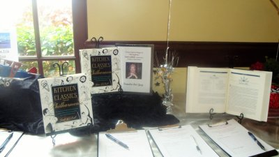 Three music cookbooks offered in the silent auction
