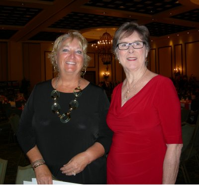 Event Chair, Mary Beth Steffens, L, and Shirley Taradash, LWRWC President