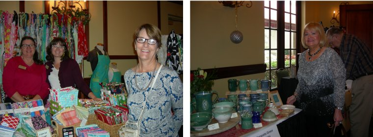 Janet Stickel. L, and Terry Chapman shop a variety of unique items from 30 vendors.