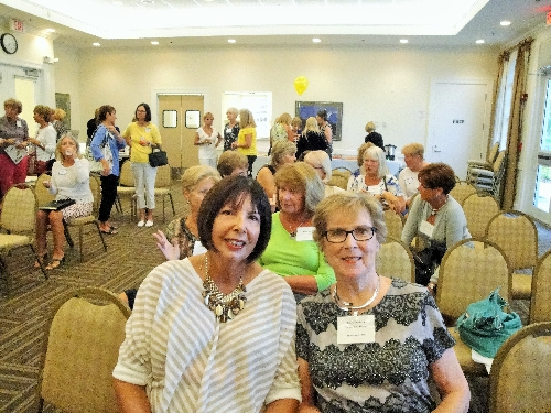 LWRWC members enjoying fun and friendship at the General Meeting on April 9, 2015. Pats President Pat Eilender,left front and Vice Presdent Shirley Taradash
