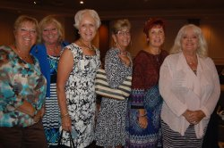Mary Beth Steffens with friends, L-R, Charmaine,Ellie, Jill, Phyllis and Lynn