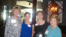 Elaine Steinfurth,L, with WC members and WC president Shirley Taradas,