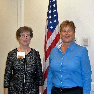 LWRWC President Shirley Taradash, L, with Carol Barkalow